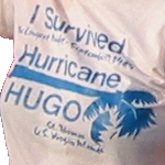 [Hurricane Hugo t-shirt, St Thomas, 1989]